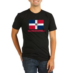 Dominican Republic Flag Organic Men's Fitted T-Shirt (dark)