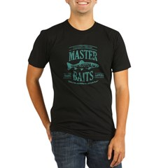 Master Baits Organic Men's Fitted T-Shirt (dark)