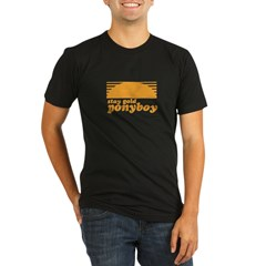 """Stay Gold Ponyboy"" [The Outs Organic Men's Fitted T-Shirt (dark)"