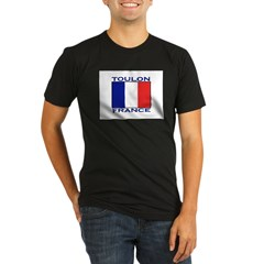 Toulon, France Organic Men's Fitted T-Shirt (dark)