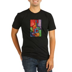 Colorful Guitar Organic Men's Fitted T-Shirt (dark)