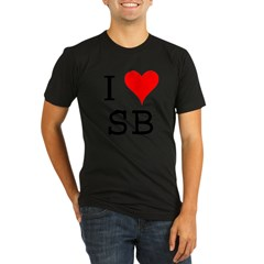 I Love SB Organic Men's Fitted T-Shirt (dark)