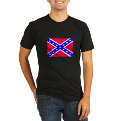 Rebel Flag Organic Men's Fitted T-Shirt (dark)