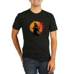 Samurai Warrior Organic Men's Fitted T-Shirt (dark)
