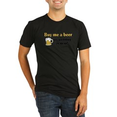 Buy me a beer Organic Men's Fitted T-Shirt (dark)