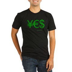 Yen Euro Dollar Organic Men's Fitted T-Shirt (dark)