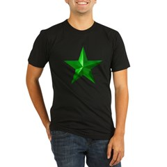 Verda Stelo (Green Star) Organic Men's Fitted T-Shirt (dark)