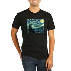 Vincent van Gogh's Starry Nigh Organic Men's Fitted T-Shirt (dark)