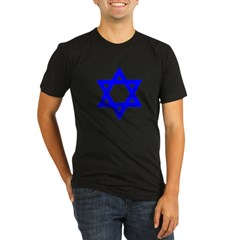 Star of David Blue Organic Men's Fitted T-Shirt (dark)