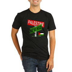 REP PALESTINE Organic Men's Fitted T-Shirt (dark)
