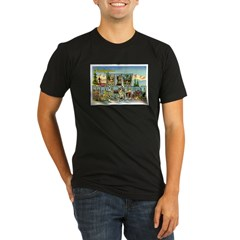 Greetings from New Hampshire Organic Men's Fitted T-Shirt (dark)