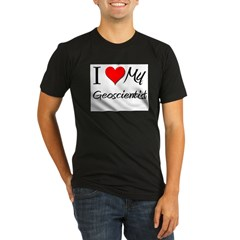 I Heart My Geoscientis Organic Men's Fitted T-Shirt (dark)