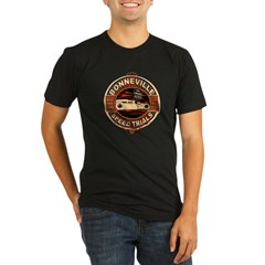 BONNEVILLE SALT FLAT TRIBUTE Organic Men's Fitted T-Shirt (dark)