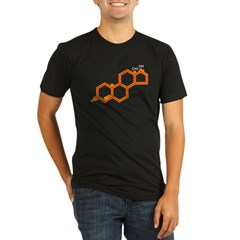 TESTOSTERONE SYMBOL Organic Men's Fitted T-Shirt (dark)