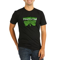 Philadelphia Shamrock Organic Men's Fitted T-Shirt (dark)