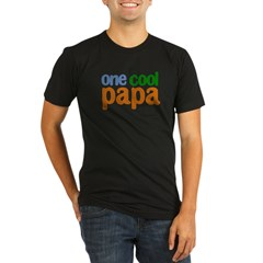 one cool papa grandpa t-shirts Organic Men's Fitted T-Shirt (dark)