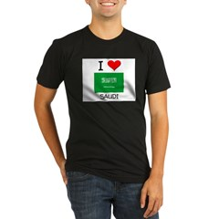 I Love Saudi Organic Men's Fitted T-Shirt (dark)