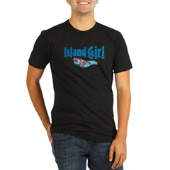 Island Girl 2 Organic Men's Fitted T-Shirt (dark)