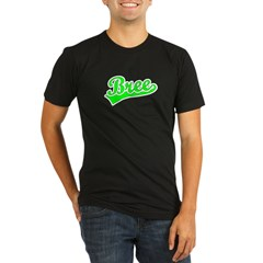 Retro Bree (Green) Organic Men's Fitted T-Shirt (dark)