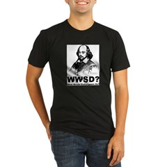 What Would Shakespeare Do Organic Men's Fitted T-Shirt (dark)