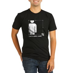 I Just Cropped Myself Organic Men's Fitted T-Shirt (dark)