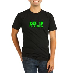 Rylie Faded (Green) Organic Men's Fitted T-Shirt (dark)