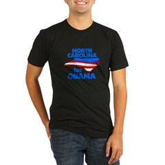 North Carolina for Obama Organic Men's Fitted T-Shirt (dark)