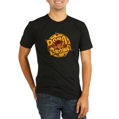 Down with the Brown Organic Men's Fitted T-Shirt (dark)