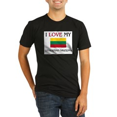 I Love My Lithuanian Grandma Organic Men's Fitted T-Shirt (dark)