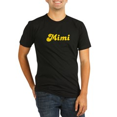 Retro Mimi (Gold) Organic Men's Fitted T-Shirt (dark)