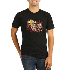 music girl Organic Men's Fitted T-Shirt (dark)