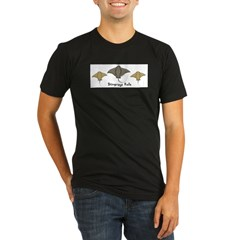Stingrays Rule Organic Men's Fitted T-Shirt (dark)