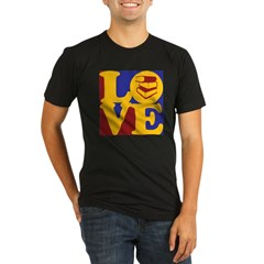 Library Work Love Organic Men's Fitted T-Shirt (dark)