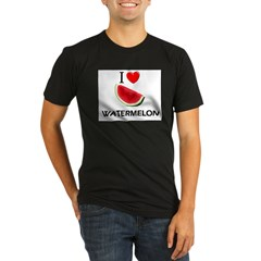 I Love Watermelon Organic Men's Fitted T-Shirt (dark)