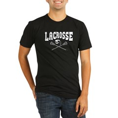 Lacrosse Arc Organic Men's Fitted T-Shirt (dark)
