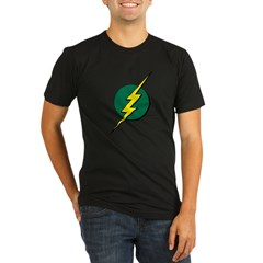 Jamaican Bolt 1 Organic Men's Fitted T-Shirt (dark)