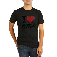 I love John F Kennedy Organic Men's Fitted T-Shirt (dark)