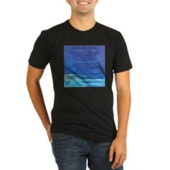 Serenity Prayer Organic Men's Fitted T-Shirt (dark)