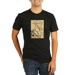Ancient Egypt Map Organic Men's Fitted T-Shirt (dark)