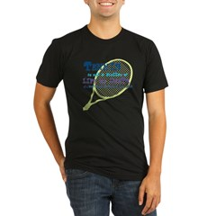 Tennis Life or.... Organic Men's Fitted T-Shirt (dark)