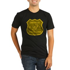 Engineer Drinking League Organic Men's Fitted T-Shirt (dark)