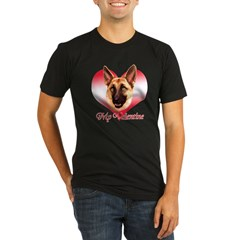 Tan Shep Valentine Organic Men's Fitted T-Shirt (dark)