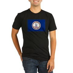 Beloved Virginia Flag Modern Style Organic Men's Fitted T-Shirt (dark)