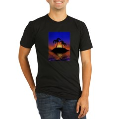 sunrise-sunset--palm-tree-s.jpg Organic Men's Fitted T-Shirt (dark)