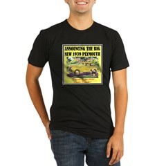 """1939 Plymouth Ad"" Organic Men's Fitted T-Shirt (dark)"