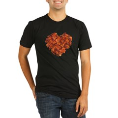Bacon Heart - Organic Men's Fitted T-Shirt (dark)