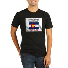 My Colorado Boyfriend Loves Me Organic Men's Fitted T-Shirt (dark)