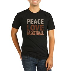 Peace Love Basketball Organic Men's Fitted T-Shirt (dark)