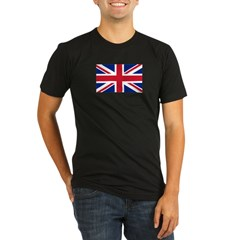 Union Jack Organic Men's Fitted T-Shirt (dark)