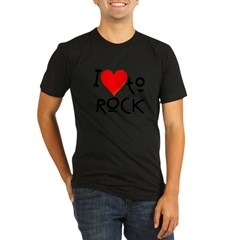 I Love to Rock: Organic Men's Fitted T-Shirt (dark)